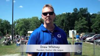 preview picture of video 'Goshen Little League President Drew Whitney thanks Middletown Honda'