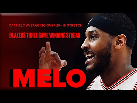 Carmelo Anthony Getting To The Bucket In Trail Blazers Run | Highlights From Three-Game Stretch видео