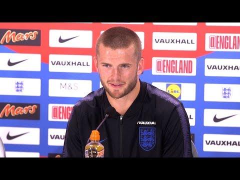 Eric Dier Pre-Match Press Conference - England v Croatia - World Cup Semi-Final - Embargo Extras