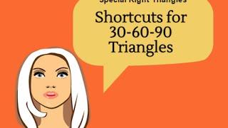 Shortcuts For Finding The Leg Lengths Of A 30-60-90 Triangle-Geometry Help