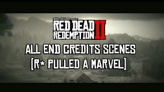 Red Dead Redemption 2 - END Credits Scenes (R* Pulled A Marvel)