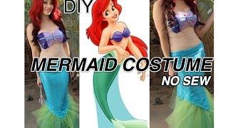 Ariel Little Mermaid DIY COSTUME *No Sew And Around $20*