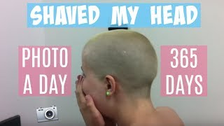 Shaved My Head | Hair Growth In 365 Days | Timelapse