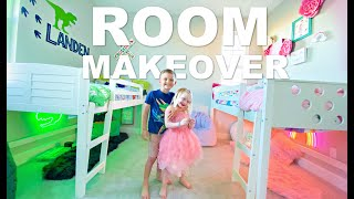 EXTREME Room Makeover *BOY/GIRL Shared Bedroom*