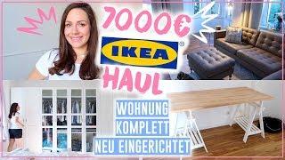 XXL 7000€ IKEA Haul • Wohnung komplett neu eingerichtet • Maria Castielle