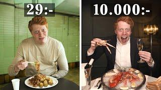 Sveriges billigaste VS dyraste restaurang