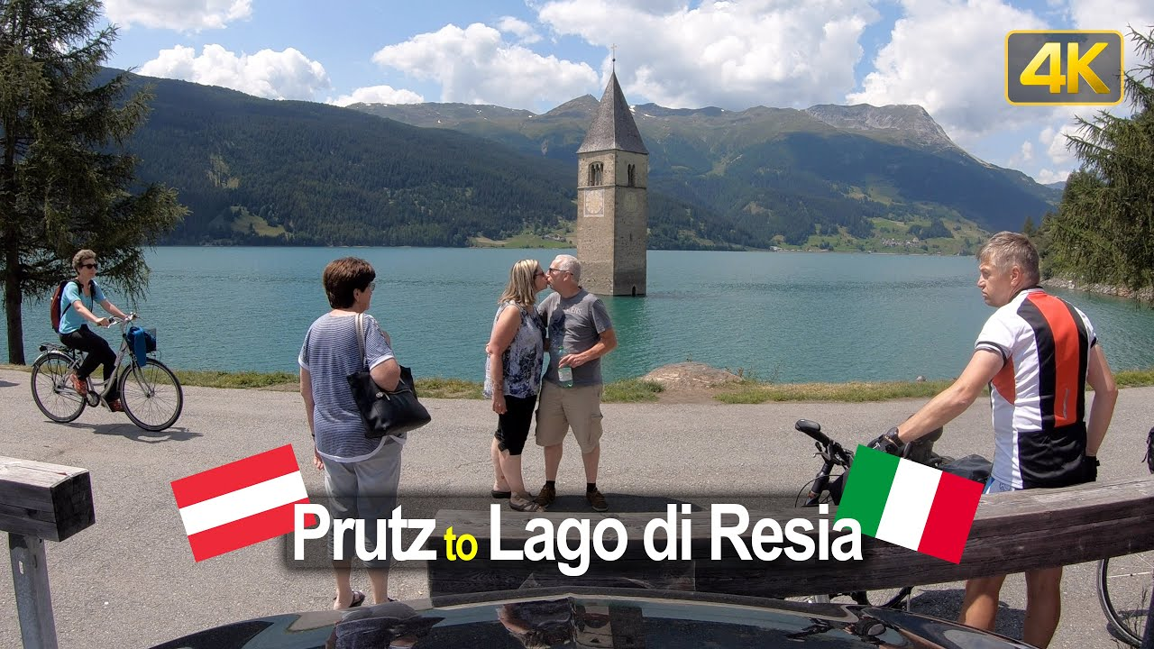 Driving from Prutz Austria to the Submerged Church in the Lago di Resia Italy
