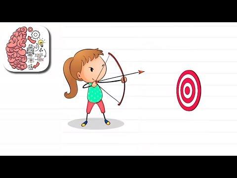 Как пройти Brain Test 116 уровень Помоги ей попасть в цель.