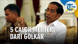 Golkar Serahkan 5 Calon Menteri kepada Jokowi