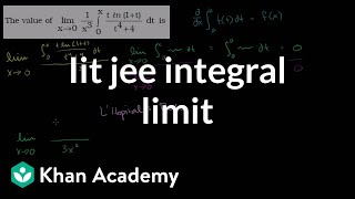 IIT JEE Integral Limit