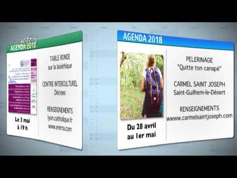 Agenda du 20 avril 2018