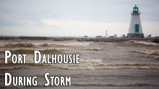 preview picture of video 'Port Dalhousie During Storm (Lake Ontario)'