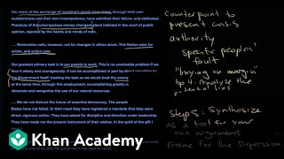 How to read a document part 2   The historian's toolkit   US History   Khan Academy