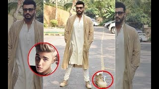 Arjun Kapoor Follows Justin Bieber's 'Foot'steps; Wears Same Nikes | SpotboyE