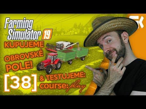 KUPUJEME OBROVSKÉ POLE & COURSEPLAY | Farming Simulator 19 #38