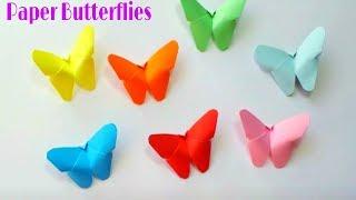 DIY Craft : Paper BUTTERFLIES |Origami Butterfly |Paper Butterfly By Moni Craft Creation