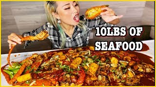 10lbs of SEAFOOD CHALLENGE!!! Can I eat all this?! #RainaisCrazy