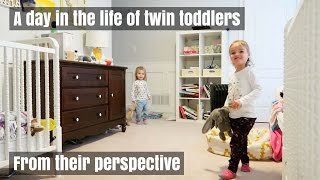 A DAY IN THE LIFE OF TWIN TODDLERS | FROM THEIR PERSPECTIVE | Nesting Story