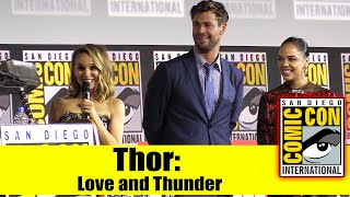 THOR: LOVE AND THUNDER | 2019 Comic Con Panel (Chris Hemsworth, Tessa Thompson & Natalie Portman)