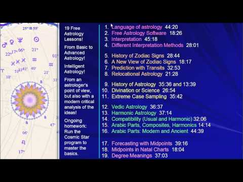 20 Free Astrology Lessons: A Complete Course - YouTube