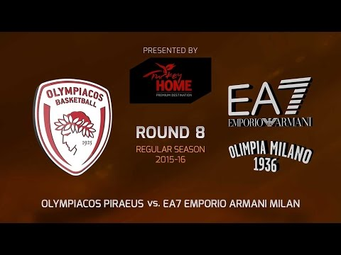 Highlights: RS Round 8, Olympiacos Piraeus vs. EA7 Milan