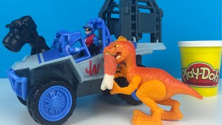 Vehiculo 4x4 Dino Rastreador Mundo Jurasico Playskool Heroes Playset Jurassic World Play Doh