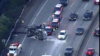 Fatal Crash Involving Dump Truck, Muni Bus Snarls Hwy 101 Traffic in S.F.