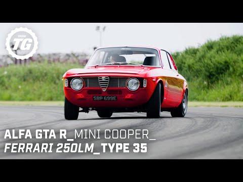 Chris Harris Drives… Retro: Ferrari 250LM, Mini Cooper S, Alfaholics GTA-R | Top Gear