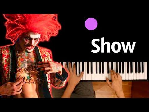 Morgenshtern - Show ● караоке | PIANO_KARAOKE ● ᴴᴰ + НОТЫ & MIDI