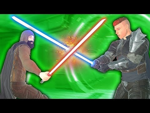 JEDI MASTER SHOWS OFF LIGHTSABER KILLS - Blades and Sorcery VR Mods (Star Wars)
