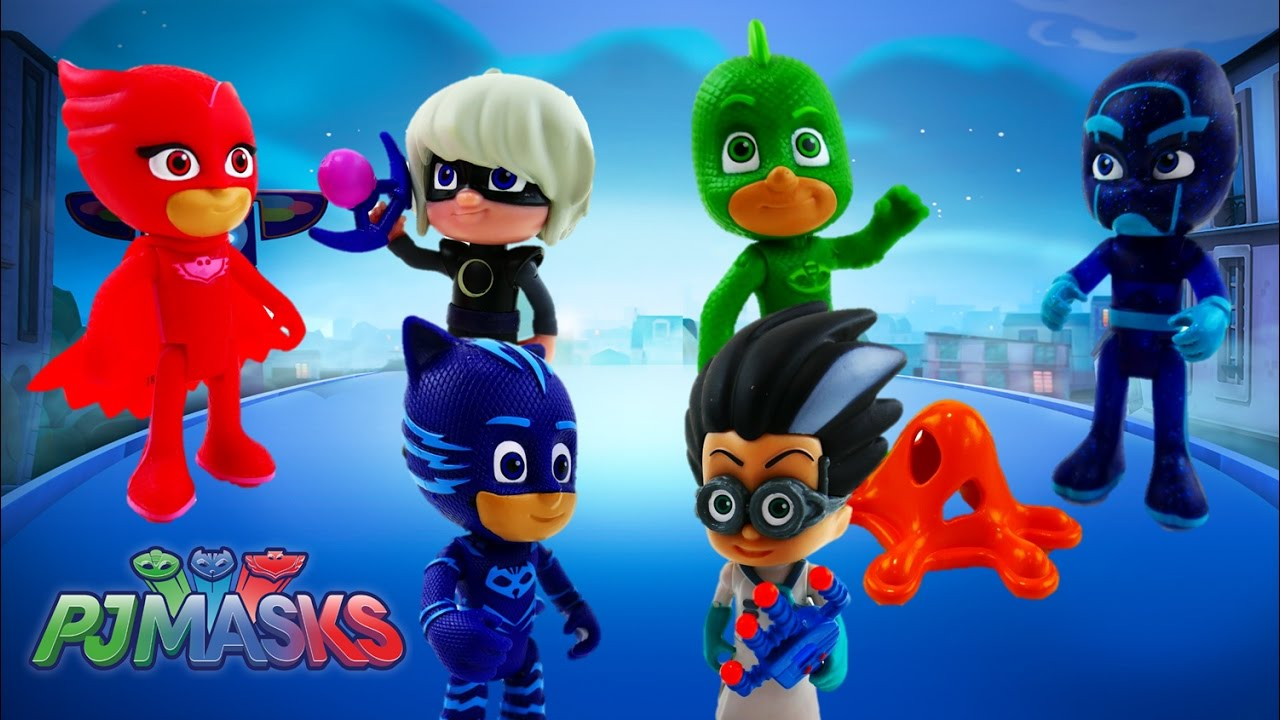 PJ Masks Toy Review Episode 1 - Catboy Owlette Gekko Romeo Night Ninja Luna Girl   Evies Toy House