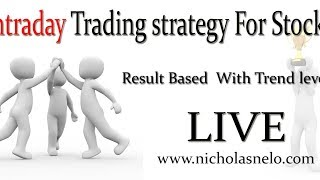 intraday trading strategy in stock market : Result Based Trading  LIVE