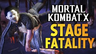 Mortal Kombat X -  Новые Stage Fatality! (PS4)