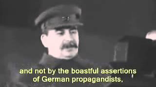 Stalin speech - November 7, 1941[English subtitles]