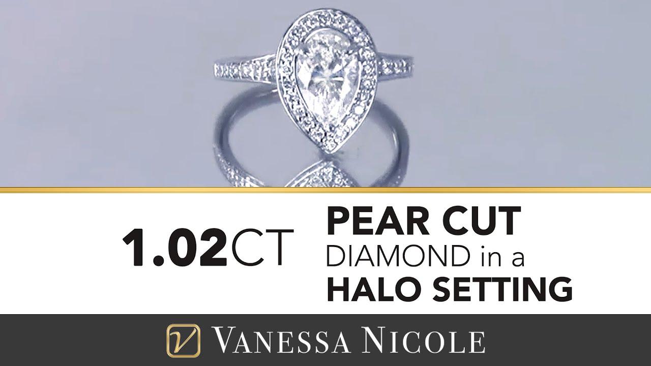 1.02ct Pear Cut Diamond Ring