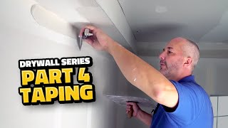 DIY Drywall Part 4 | Drywall Taping Masterclass for Beginners!