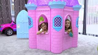 Playing with Princess Dresses and Castle
