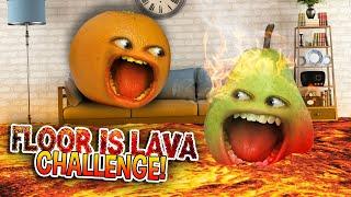 Annoying Orange - The Floor Is Lava Challenge!