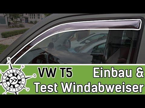 VW T5 Windabweiser einbauen und TESTEN || SCHALLDOSE ON TOUR