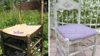 Chalk Paint Shabby Chic Chair Decoupage Tutorial. Furniture Refinishing DIY