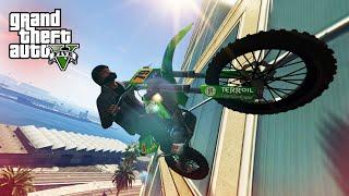 IMPOSSIBLE WALLRIDE STUNT! - (GTA 5 Top 10 Stunts)