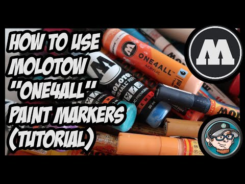 HOW TO USE MOLOTOW ONE4ALL PAINT MARKERS (TUTORIAL)