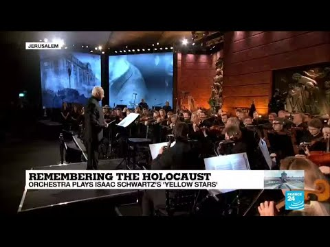 Remembering the Holocaust: Orchestra plays Isaac Schwartz's 'Yellow stars' at Yad Vashem