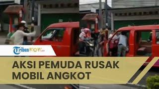Viral Video Aksi Pemuda Kejar dan Rusak Mobil Angkot di Cianjur, Diduga karena Senggolan Kendaraan