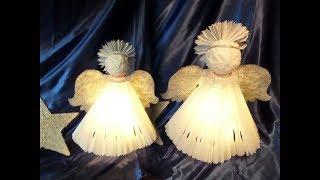 DIY: Großer  3D LED ENGEL & LAMPE Aus Papier, Für 1€ Upcycling :))