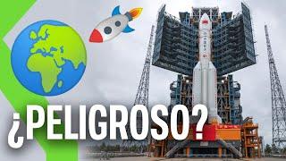 ¡COHETE CHINO SIN CONTROL! 🚀El Long March 5B va a reentrar en la atmósfera de forma descontrolada