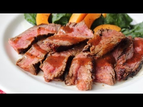 Beerbecue Beef Flank Steak – Grilled Flank Steak with Beer Barbecue Sauce