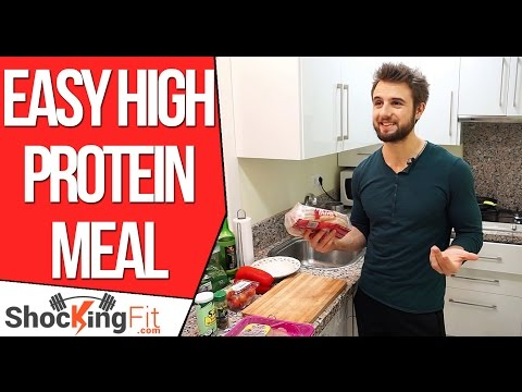 Video Easy High Protein Meal in Less Than 15 Minutes (Get Over 100g of Protein Fast)