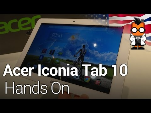 Acer Iconia Tab 10: Hands On