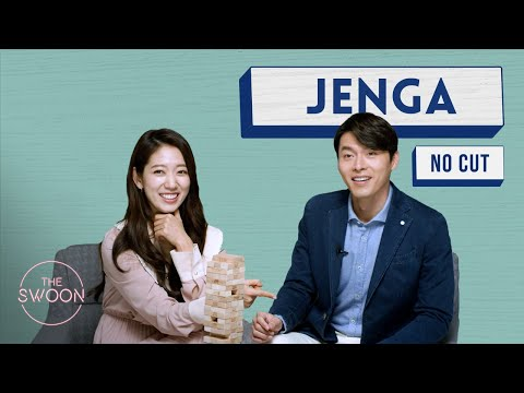Park Shin-hye and Hyun Bin Play Jenga - No Cut [ENG SUB CC]